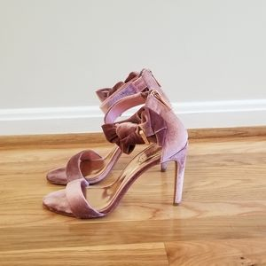 Ted Baker Pink Velvet Heels